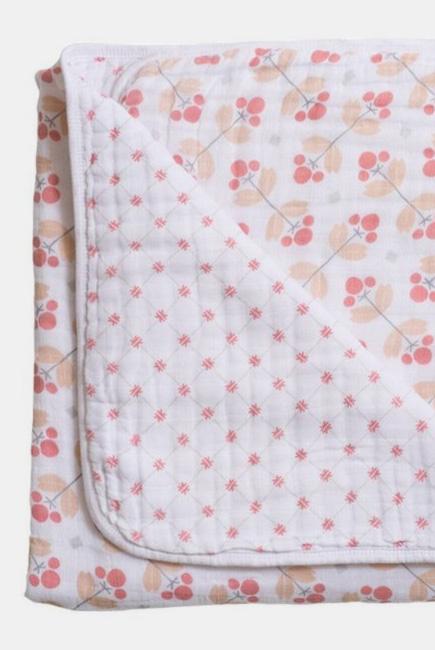 Одеяло из муслина Bebe au Lait, цвет Dewberry and Lattice