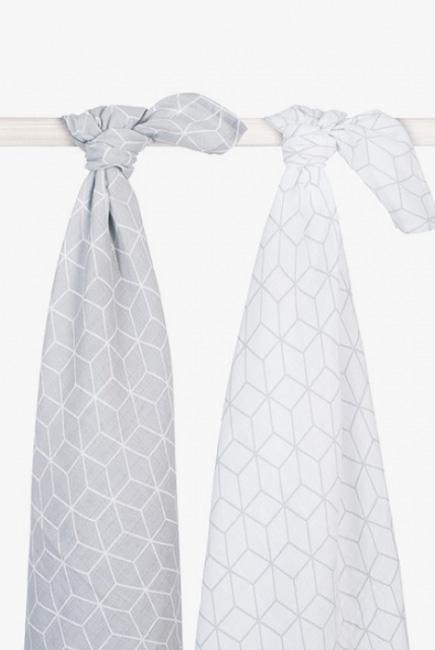 Муслиновые пеленки для новорожденного Jollein большие, Graphic Grey