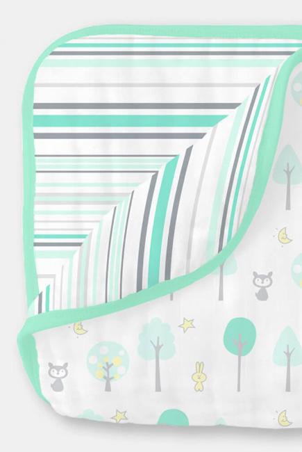 Муслиновое одеяло SwaddleDesigns, цвет Green Woodland