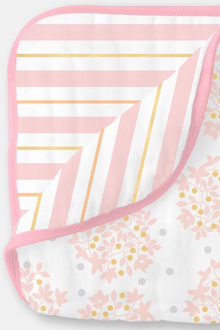 Муслиновое одеяло SwaddleDesigns, цвет Heavenly Floral Pink