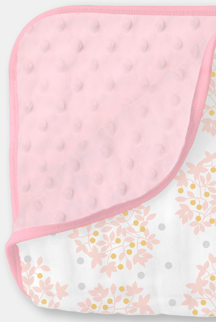 Муслиновое одеяло с флисом SwaddleDesigns Snuggle Blanket, Heavenly Floral Shimmer