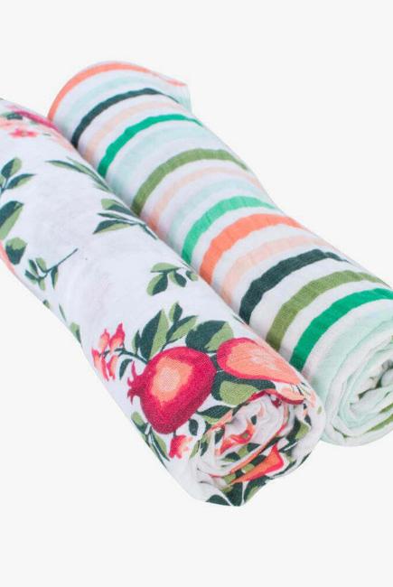 Муслиновые пеленки для новорожденного Bébé au Lait большие, Ojai/Ribbon