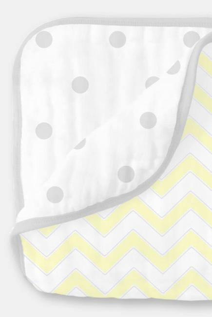 Одеяло муслиновое SwaddleDesigns, Pale Yellow Chevron