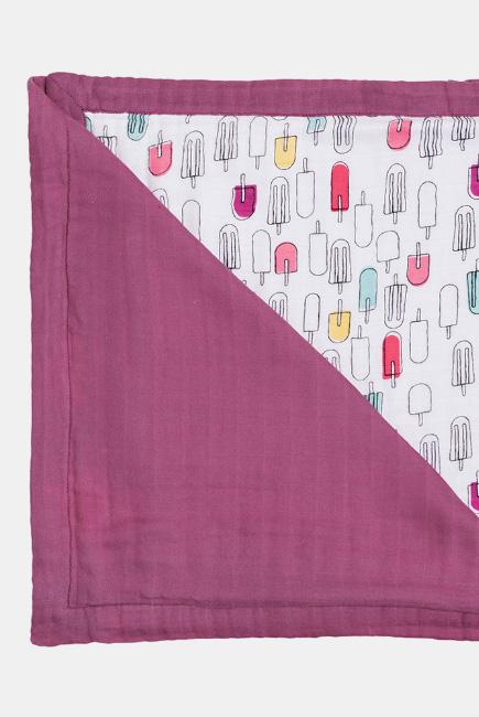 Муслиновое одеяло с бамбуком Bebe au Lait, цвет Popsicles/Cherry