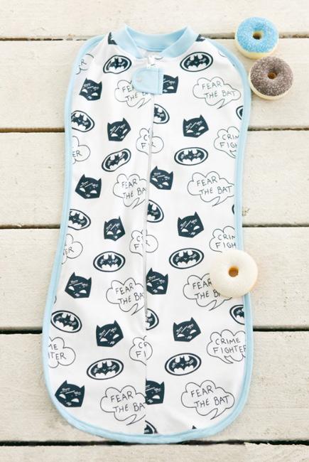 Пеленка-кокон для новорожденных трикотажная, Batman