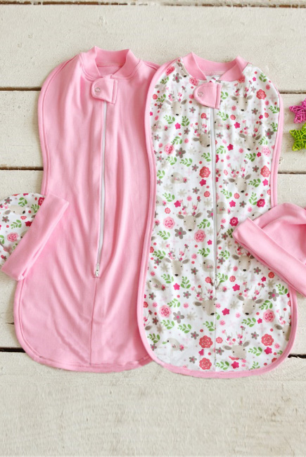 Комплект пеленок-коконов для новорожденных, Flowers