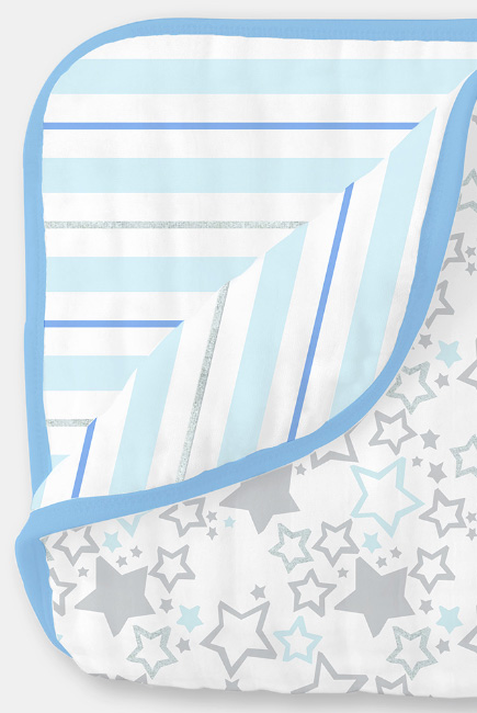 Одеяло из муслина SwaddleDesigns, цвет Starshine Shimmer Blue