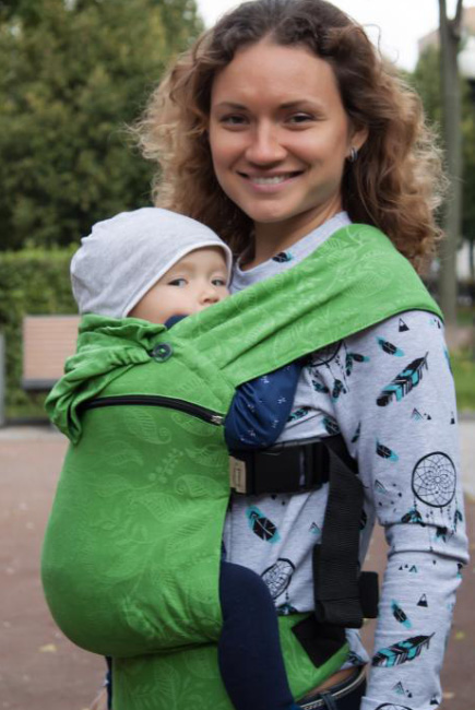 Эрго-рюкзак шарфовый Карауш растущий, Summer