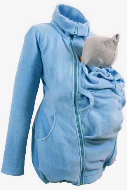 Флисовая слингокуртка и куртка для беременных, голубой