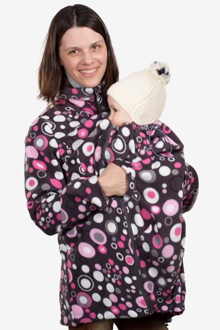 Флисовая слингокуртка и куртка для беременных, темные круги