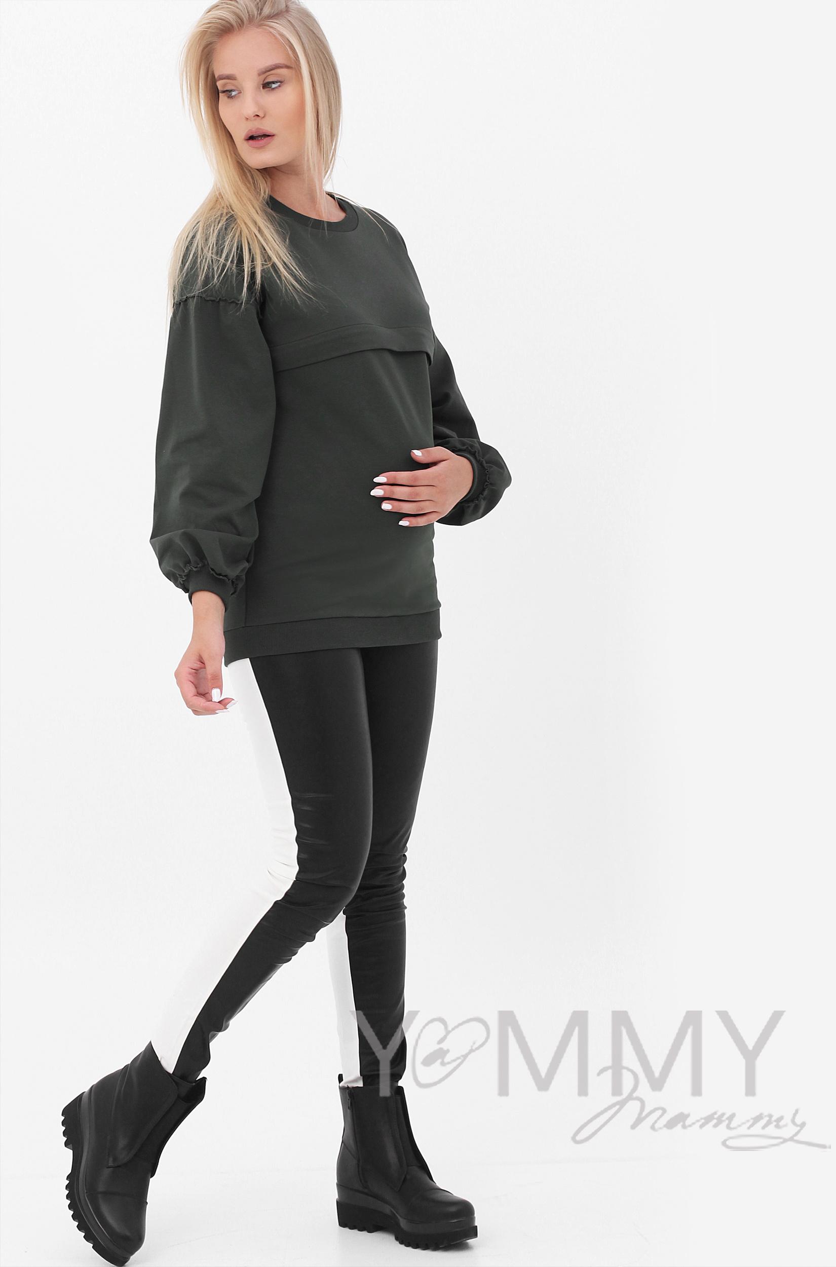 f51eef50ceb4 Толстовка для беременных и кормящих из футера Betty - бирюзовый ...