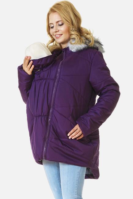 Слингокуртка зимняя Mishel 2в1, фиолетовая