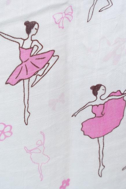 Муслиновая пеленка для новорожденных с бамбуком Diva большая, Ballerina
