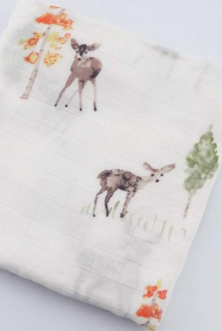Муслиновая пеленка для новорожденных с бамбуком Diva большая, Deer