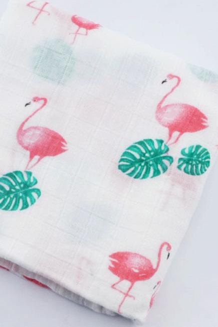 Муслиновая пеленка для новорожденных с бамбуком Diva большая, Flamingo Bamboo