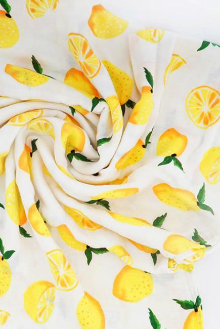 Муслиновая пеленка для новорожденных с бамбуком Diva большая, Lemon Cotton