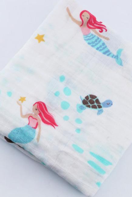 Муслиновая пеленка для новорожденных с бамбуком Diva, Pink Flower