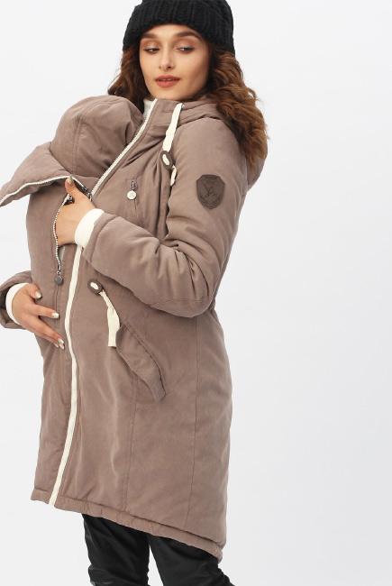 Зимняя слингокуртка - парка 3 в 1, коричневый