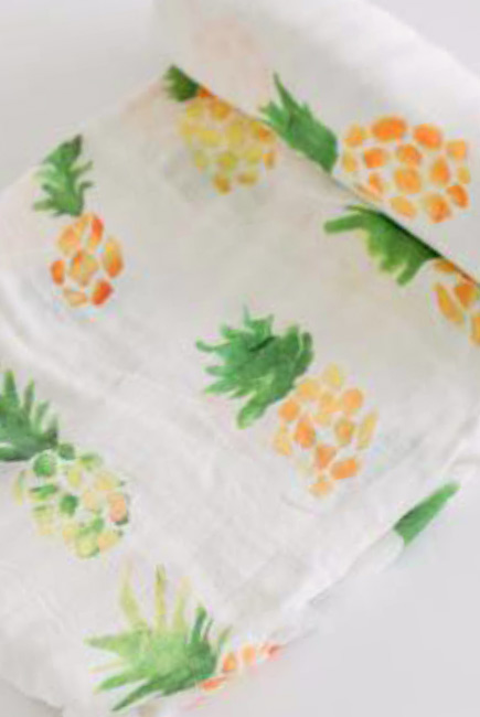 Муслиновая пеленка для новорожденных Diva большая, Pineapple Cotton