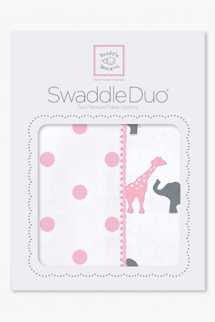 Набор пеленок SwaddleDesigns - Swaddle Duo Circus Fun Pink