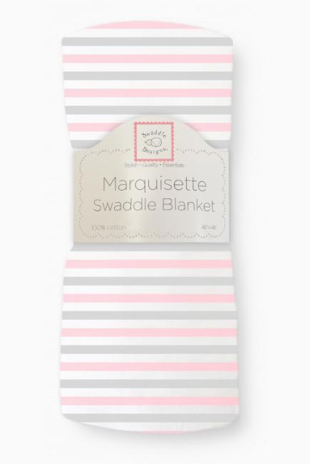 Пеленка детская тонкая Swaddle Designs Маркизет, Simple Stripes Pstl Pink