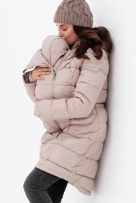Слингопальто-слингокуртка зимняя пуховая 3 в 1, бежевый