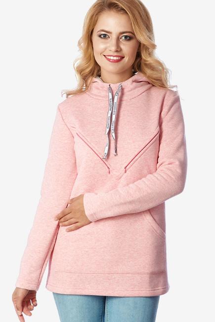Толстовка для кормящих и беременных из футера Betty, розовый 266a3a70357