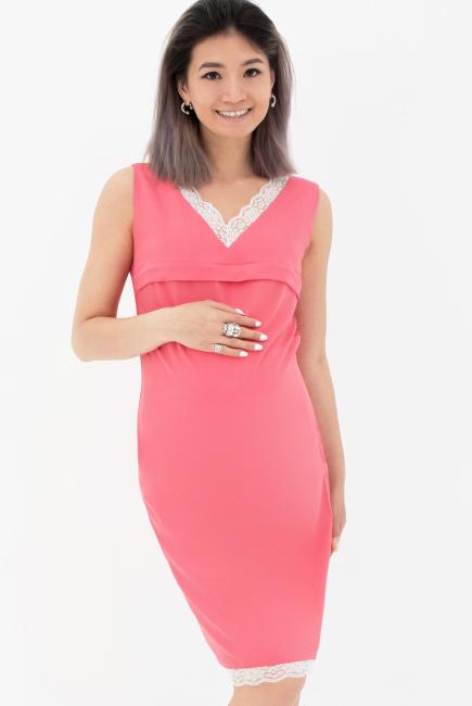 aafc43d3f22 Платье для кормящих и беременных с кружевом