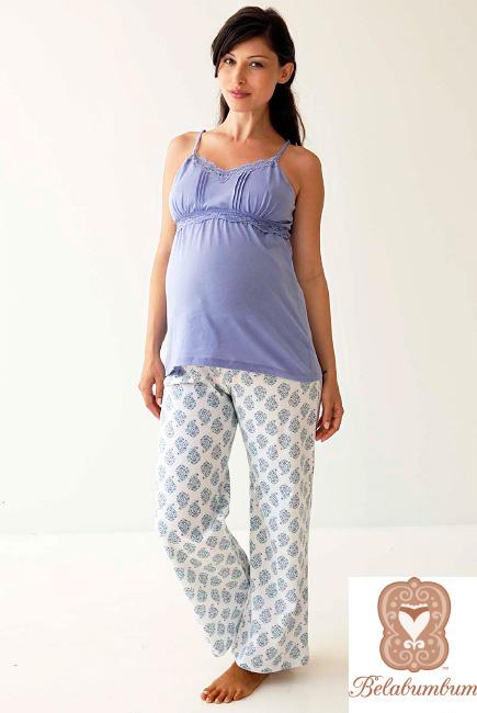 Домашний комплект для беременных и кормящих Belabumbum Violette