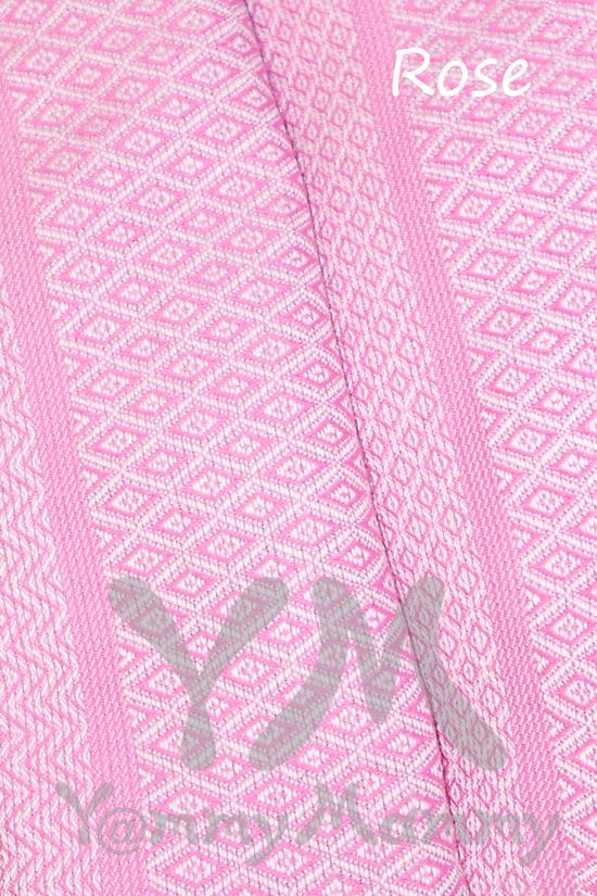 "Слинг с кольцами YammyMammy (yummy mummy), цвет ""розовый/белый"""