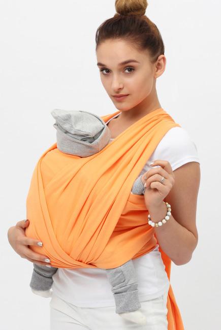 """Слинг-шарф трикотажный, цвет """"оранжевый"""""""