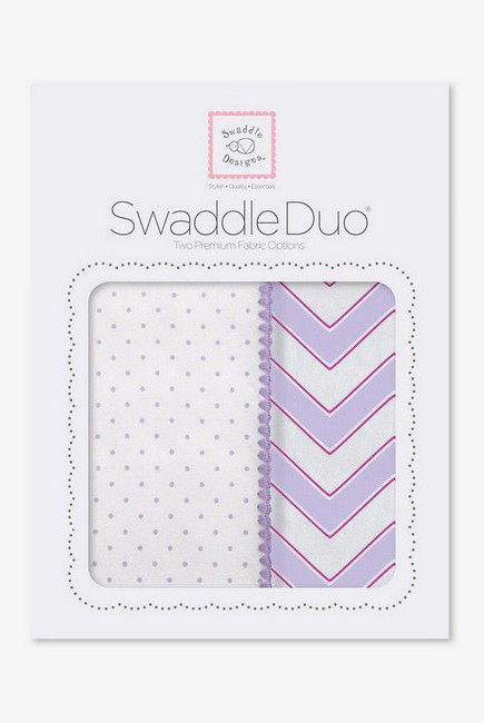 Набор пеленок SwaddleDesigns Swaddle Duo LV Classic Chevron