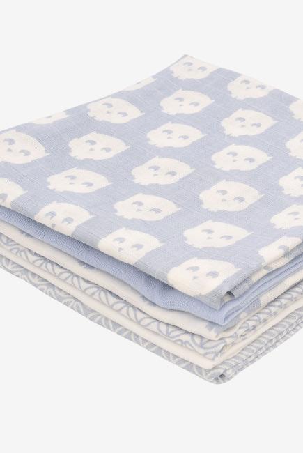 Муслиновые пеленки для новорожденных Jollein средние, Owl blue