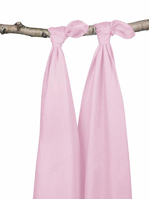 Комплект бамбуковых пеленок для новорожденных 2 шт. Jollein, light pink