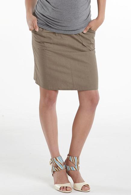 Юбка для беременных и родивших Mothers en Vogue Linen Utility, бежевый (Moonrock)