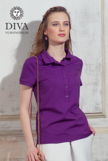 Топ для кормления Diva Nursingwear Polo, цвет Viola