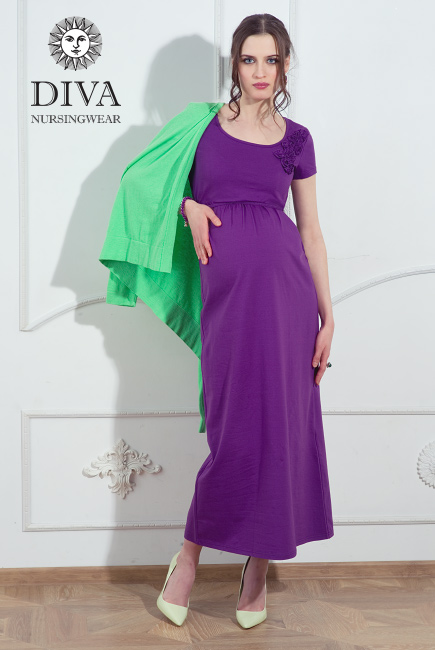 Платье для кормящих и беременных Diva Nursingwear Lucia, цвет AzzurroПлатье для кормящих и беременных Diva Nursingwear Dalia, цвет Viola