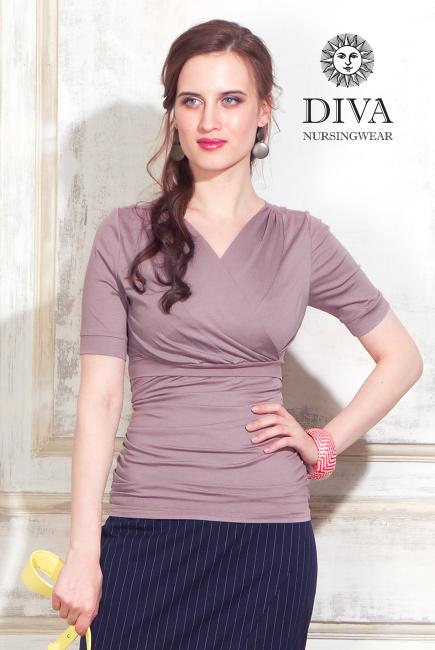 Топ для кормящих и беременных Diva Nursingwear Lucia, Cacao