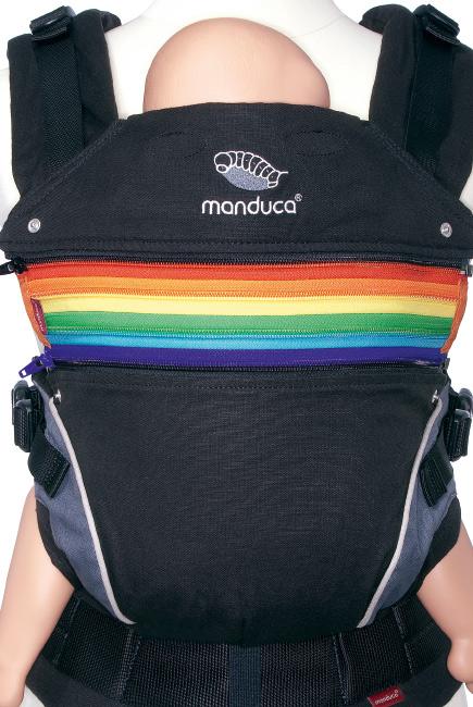 Вставка в удлинение спинки эрго-рюкзака Manduca, радужный