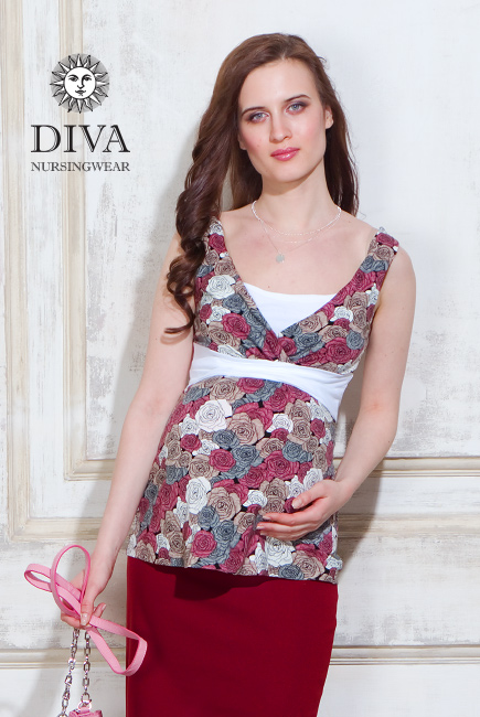 Топ для кормящих и беременных Diva Nursingwear Alba, Rose