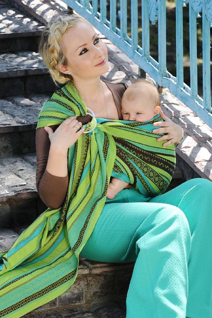 Слинг с кольцами Ellevill Zara Tricolor Green