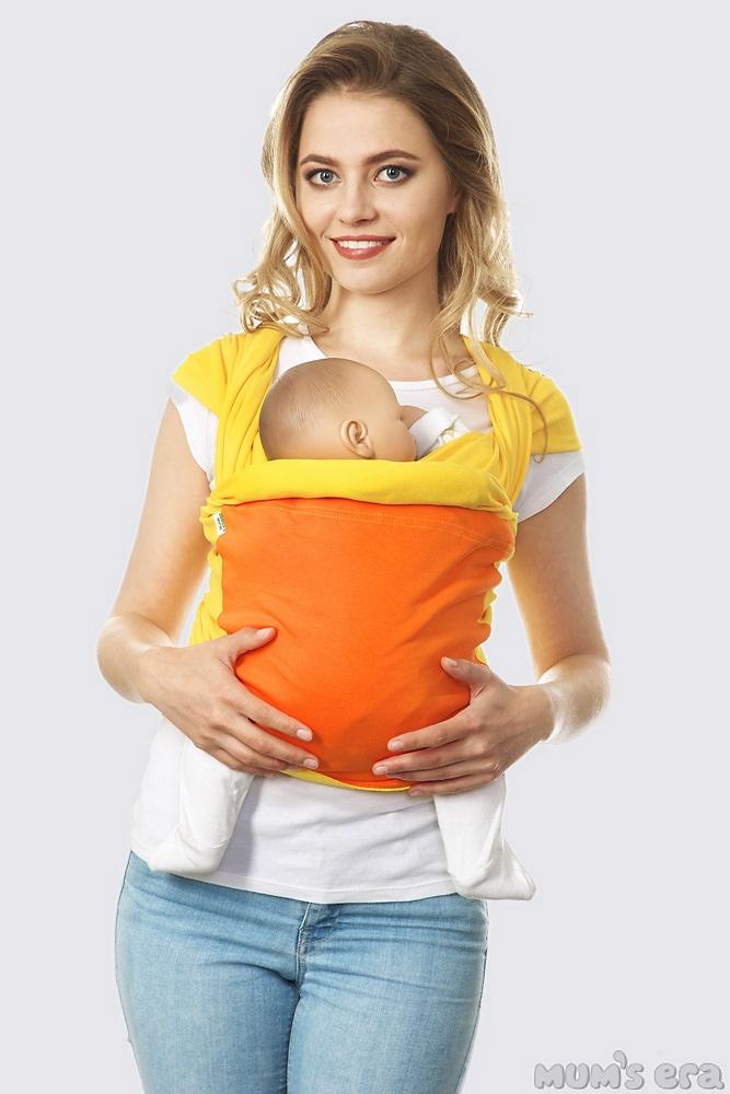 Слинг-шарф трикотажный Fusion, желто-оранжевый