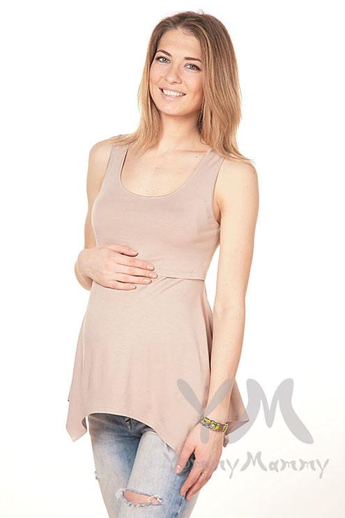 Туника для кормящих и беременных, капучино