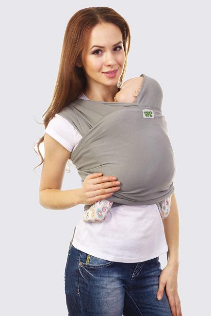 Слинг-шарф трикотажный, серый