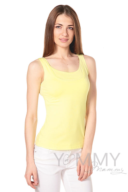 Майка для беременных и кормящих, цвет светло-жёлтый