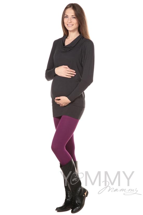 Лосины для беременных, темная орхидея из модала