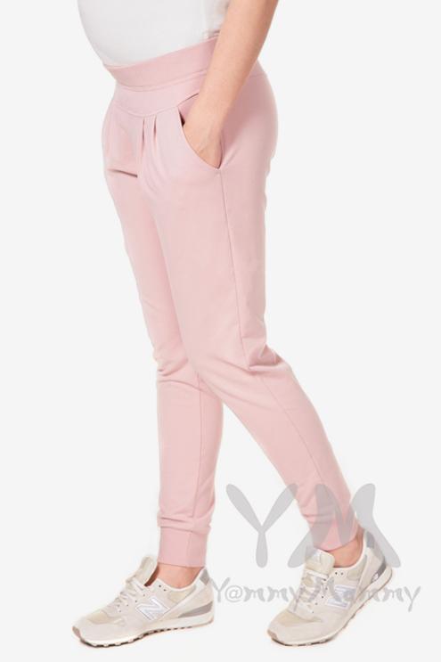 Брюки для беременных универсальные спортивные, жемчужно-розовые
