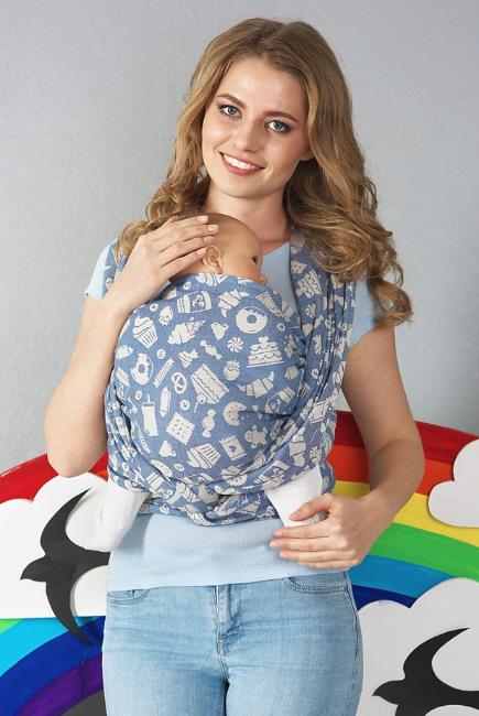 Слинг-шарф Sweet, синий