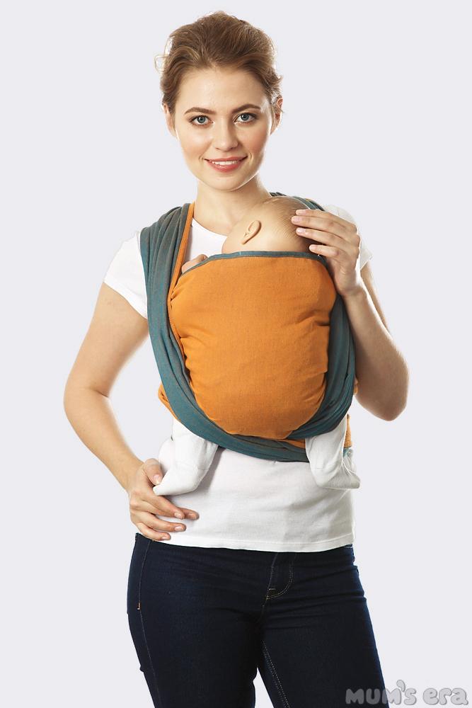 Слинг-шарф Casual, оранжево-синий