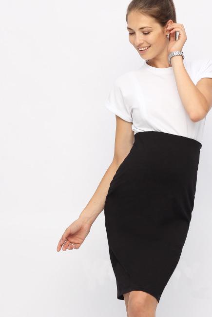 Юбка-карандаш для беременных и родивших универсальная, черная
